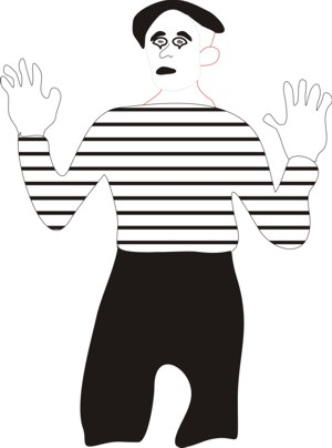 A traditional mime.